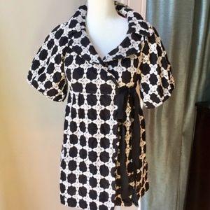 Ivy Jane Antho. Black & White Embroidered Dress